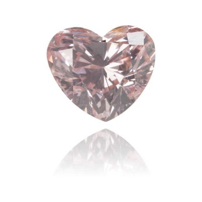 Natural Pink Diamond Heart Shape 0.45 ct Polished