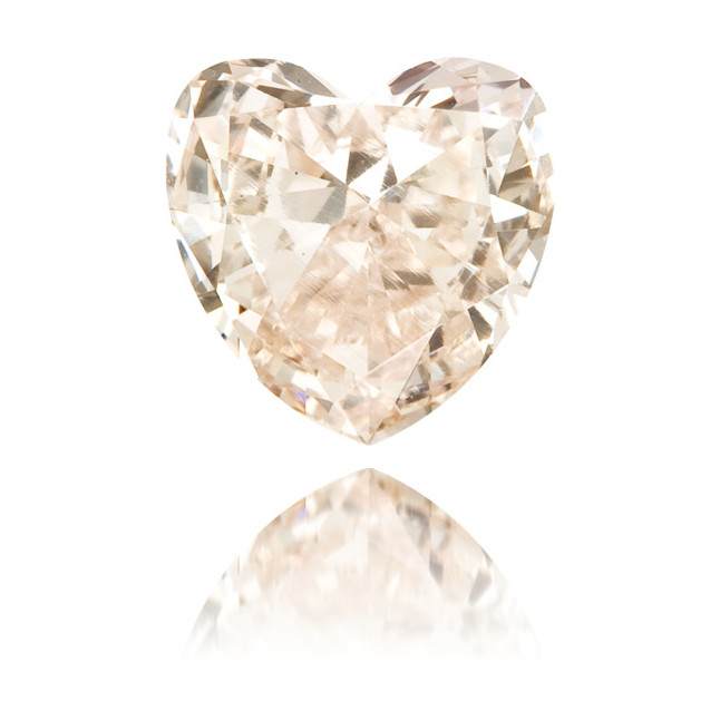 Natural Pink Diamond Heart Shape 0.42 ct Polished