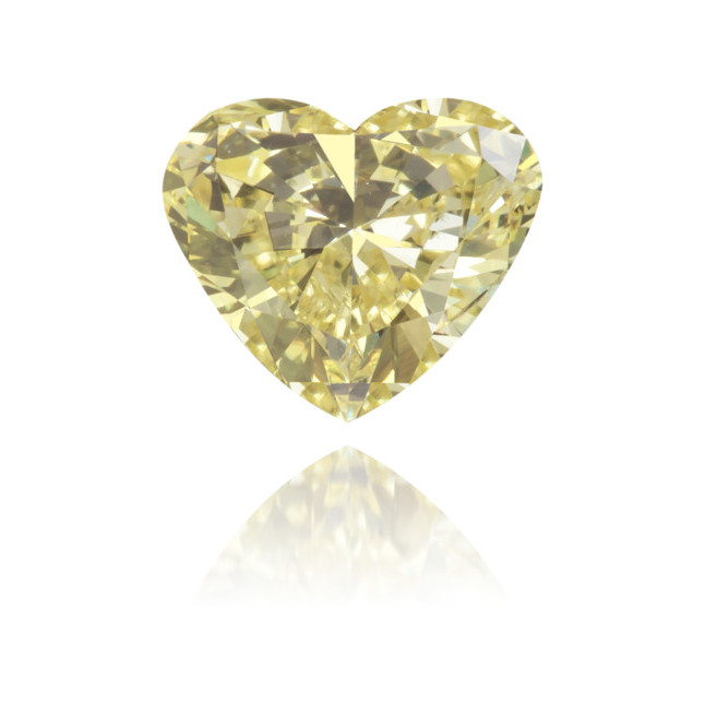 Natural Yellow Diamond Heart Shape 0.51 ct Polished