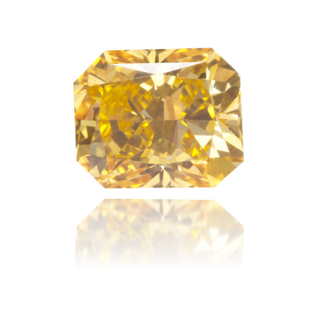Natural Orange Diamond Square 0.36 ct Polished