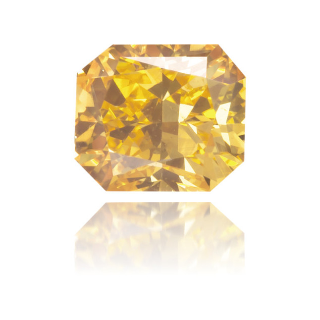 Natural Orange Diamond Rectangle 0.32 ct Polished