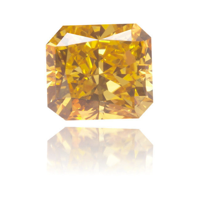 Natural Orange Diamond Square 0.31 ct Polished