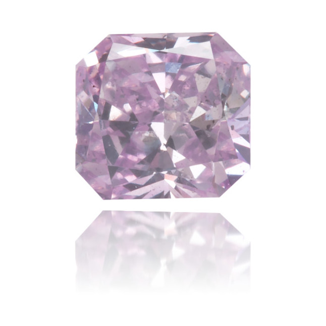 Natural Purple Diamond Square 0.26 ct Polished