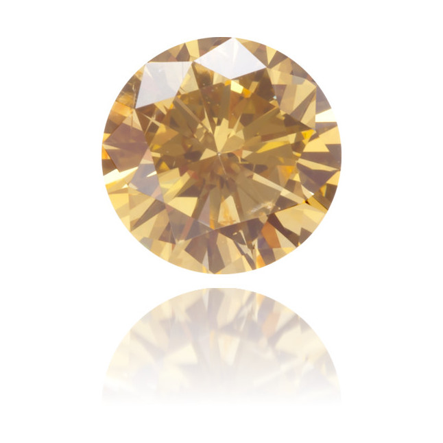 Natural Orange Diamond Round 0.40 ct Polished