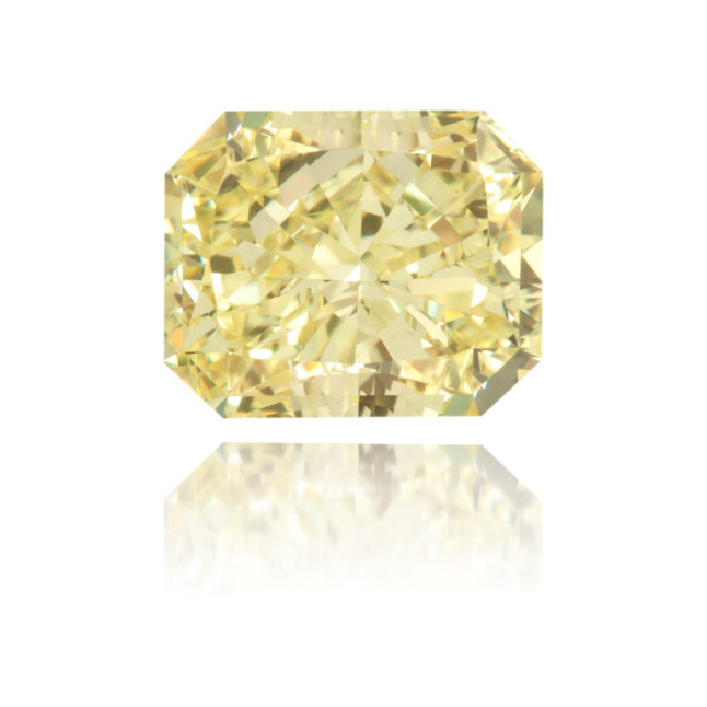 Natural Yellow Diamond Rectangle 1.01 ct Polished