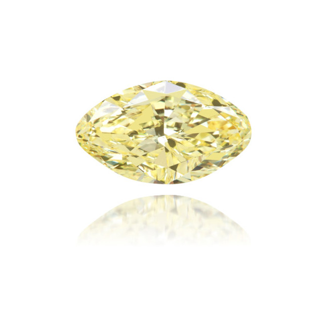 Natural Yellow Diamond Oval 1.13 ct Polished