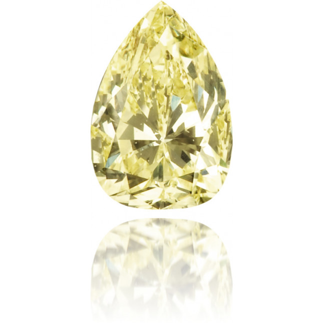 Natural Yellow Diamond Pear Shape 0.38 ct Polished