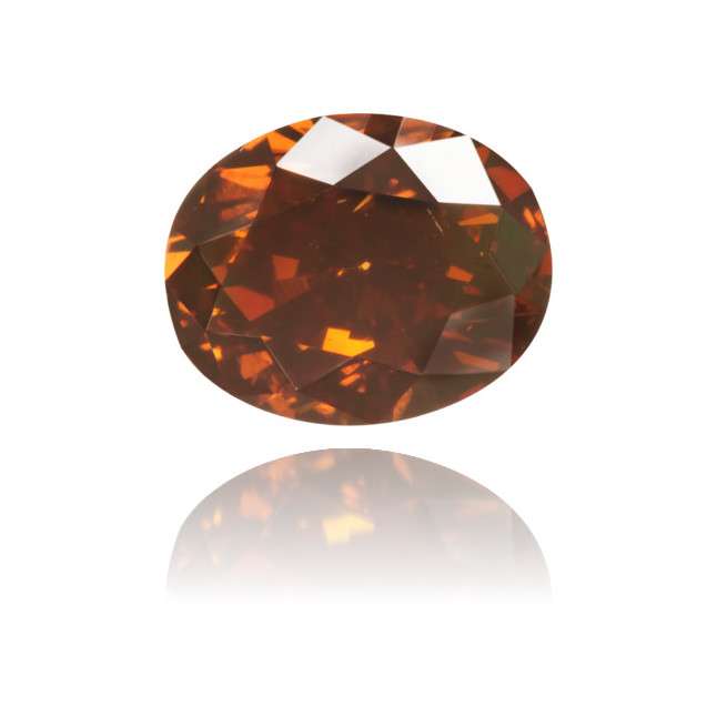 Natural Brown Diamond Oval 0.43 ct Polished