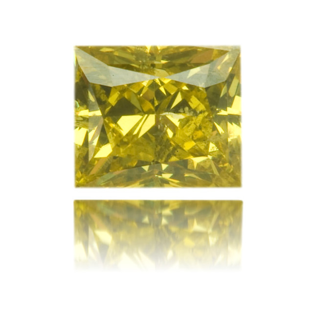 Natural Green Diamond Square 0.53 ct Polished