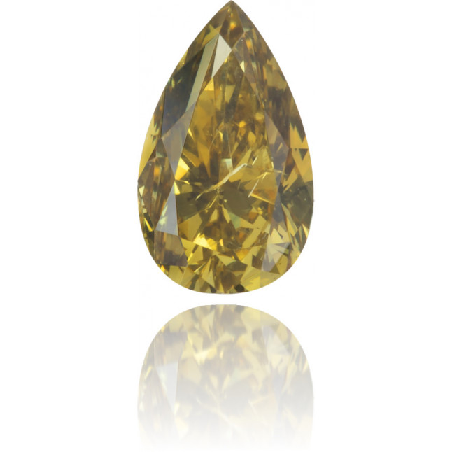 Natural Green Diamond Pear Shape 0.34 ct Polished