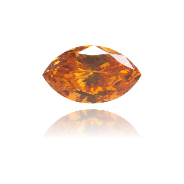 Natural Orange Diamond Marquise 0.43 ct Polished