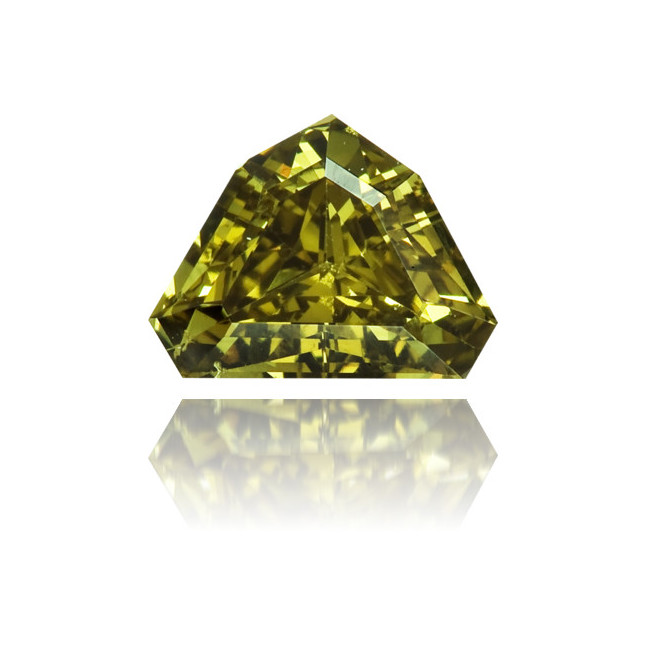 Natural Green Diamond Bishop Hat 0.41 ct Polished