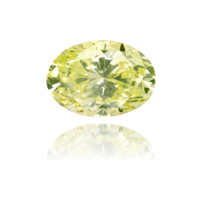 Natural Green Diamond Oval 0.90 ct Polished