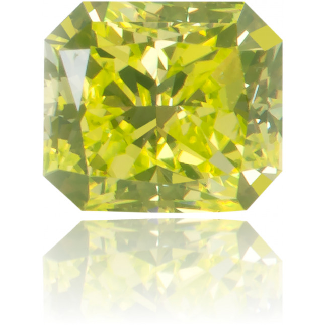 Natural Green Diamond Rectangle 0.44 ct Polished