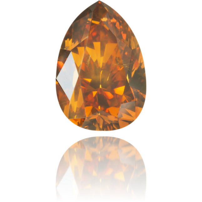 Natural Orange Diamond Pear Shape 0.79 ct Polished