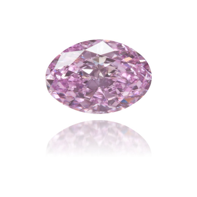Natural Purple Diamond Oval 0.18 ct Polished