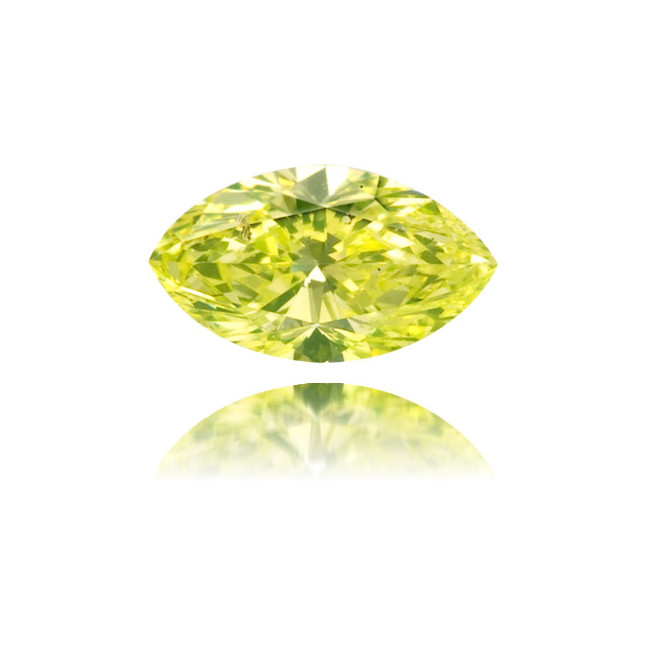 Natural Green Diamond Marquise 0.11 ct Polished