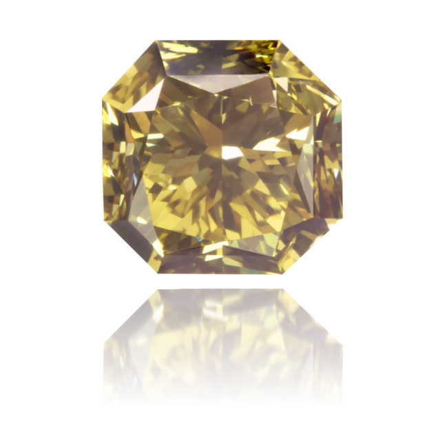 Natural Green Diamond Octagon 0.89 ct Polished