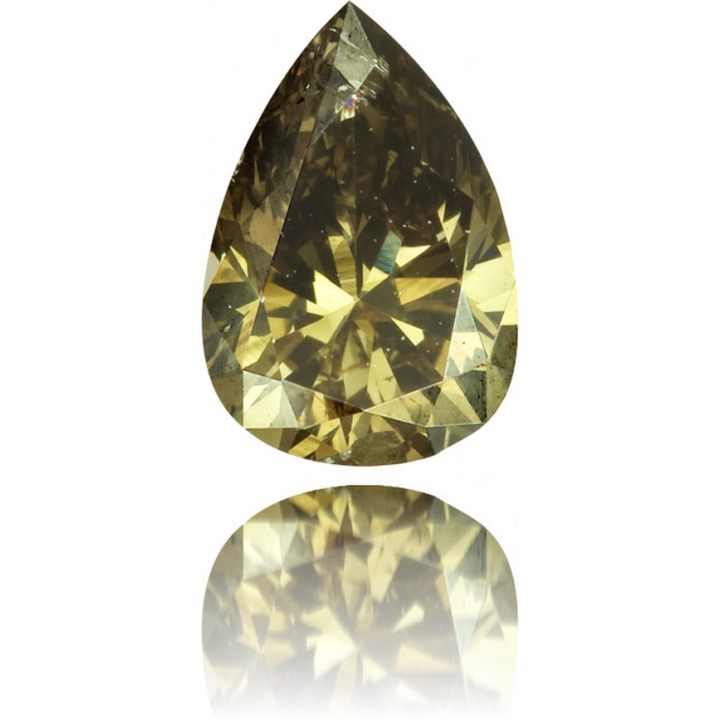 Natural Green Diamond Pear Shape 0.42 ct Polished