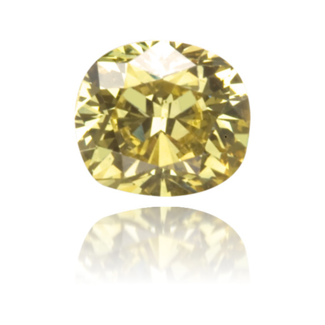 Natural Green Diamond Cushion 0.24 ct Polished