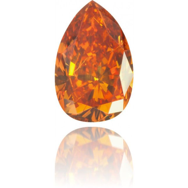 Natural Orange Diamond Pear Shape 0.41 ct Polished