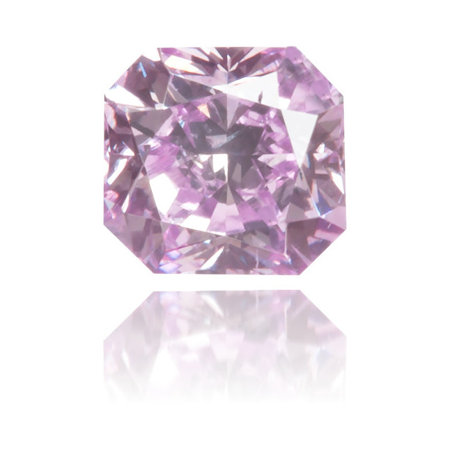 Natural Purple Diamond Square 0.22 ct Polished