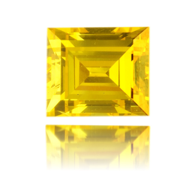 Natural Yellow Diamond Rectangle 0.36 ct Polished
