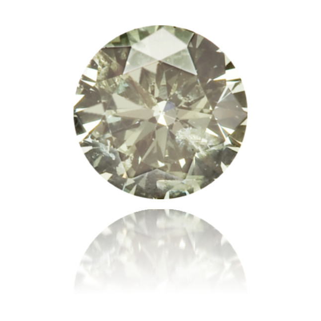 Natural Green Diamond Round 0.15 ct Polished