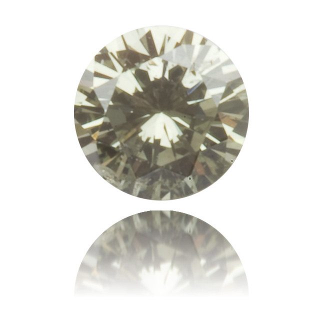Natural Green Diamond Round 0.10 ct Polished