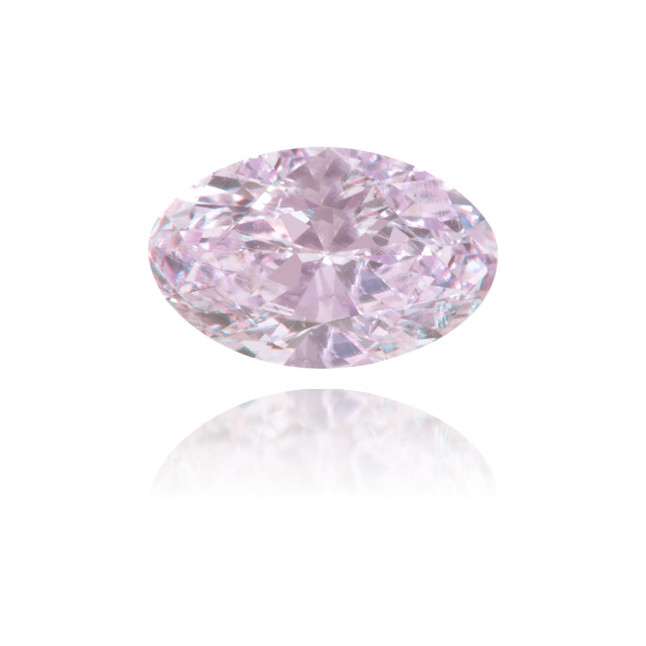 Natural Pink Diamond Oval 0.41 ct Polished