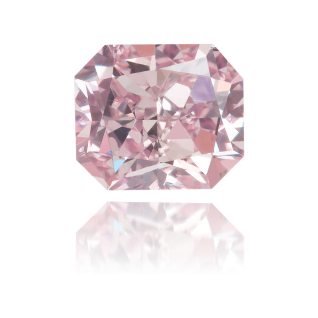 Natural Pink Diamond Square 0.51 ct Polished