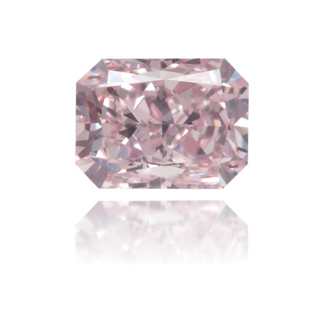 Natural Pink Diamond Square 0.53 ct Polished