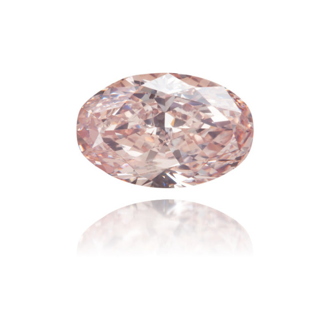 Natural Pink Diamond Oval 0.92 ct Polished