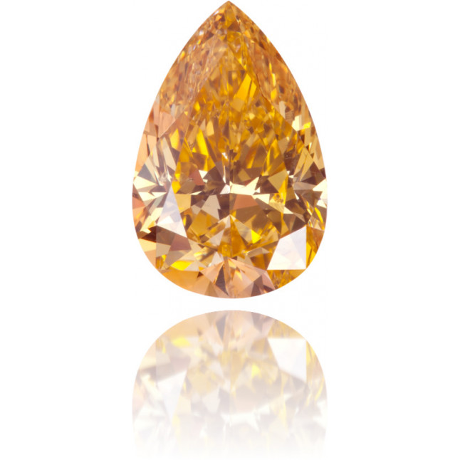 Natural Orange Diamond Pear Shape 1.24 ct Polished