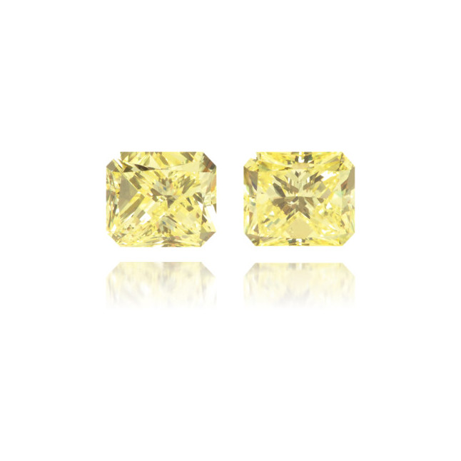 Natural Yellow Diamond Rectangle 1.21 ct Set