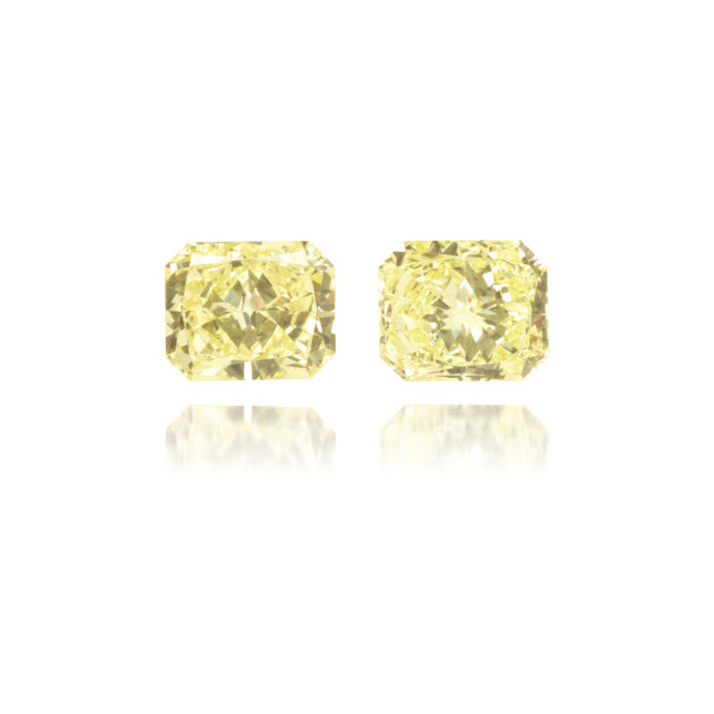 Natural Yellow Diamond Rectangle 0.94 ct Set