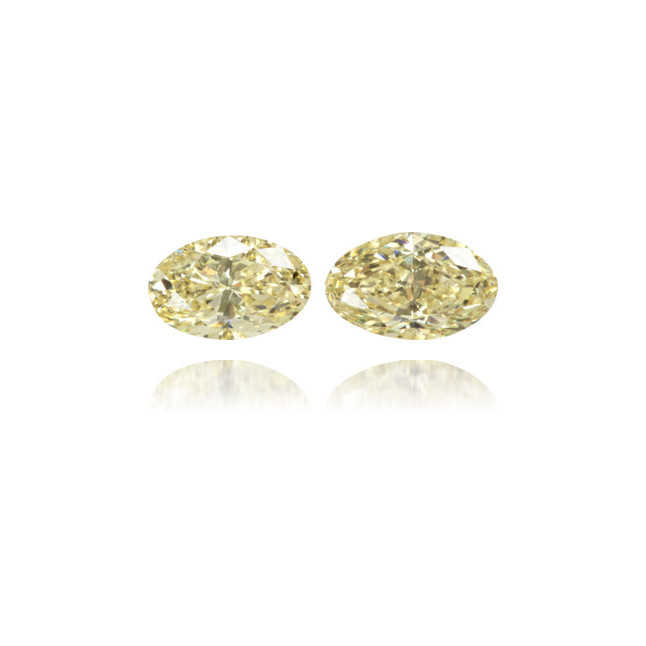 Natural Yellow Diamond Oval 0.87 ct Set