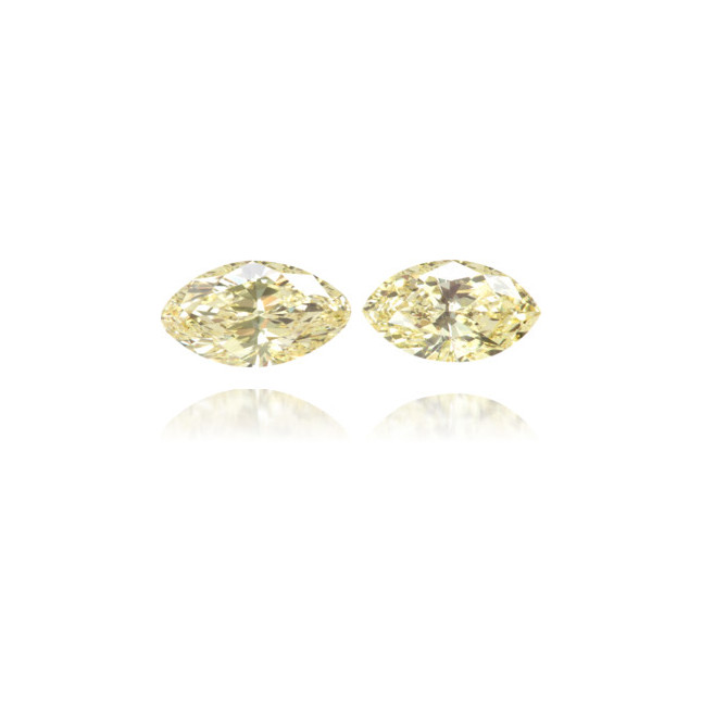 Natural Yellow Diamond Marquise 0.75 ct Set
