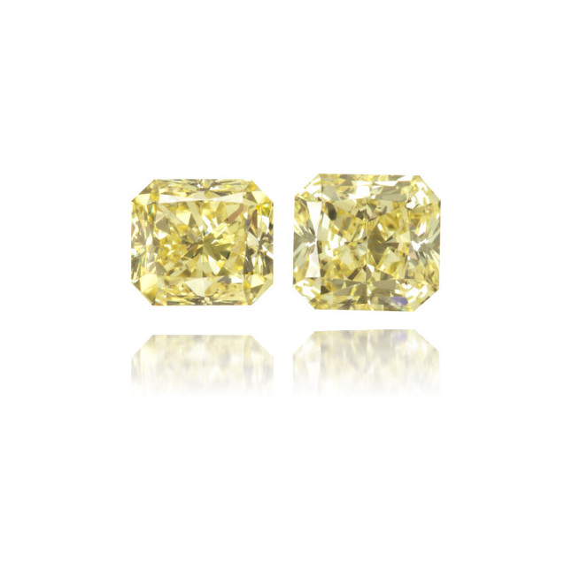 Natural Yellow Diamond Rectangle 1.03 ct Set