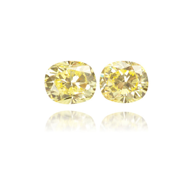 Natural Yellow Diamond Oval 0.44 ct Set