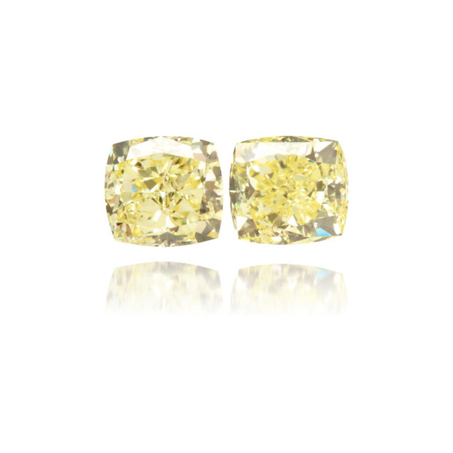 Natural Yellow Diamond Square 1.62 ct Set