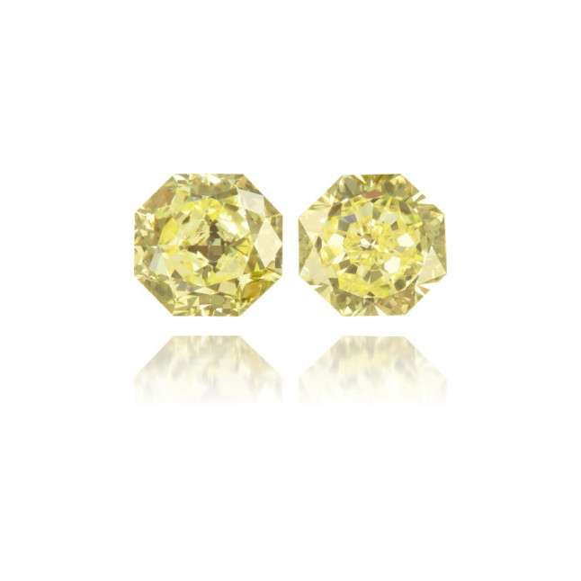 Natural Yellow Diamond Octagon 0.86 ct Set