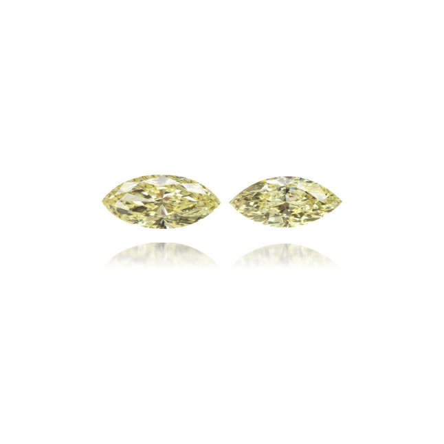 Natural Yellow Diamond Marquise 1.05 ct Set