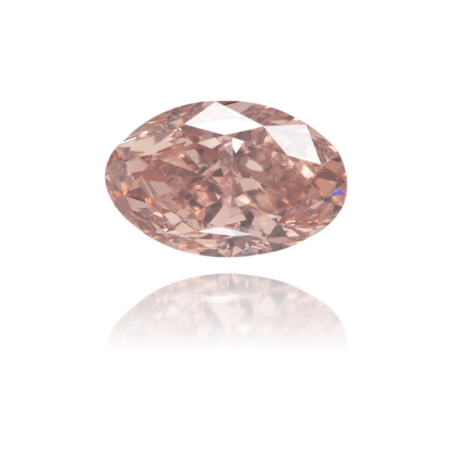 Natural Pink Diamond Oval 0.54 ct Polished