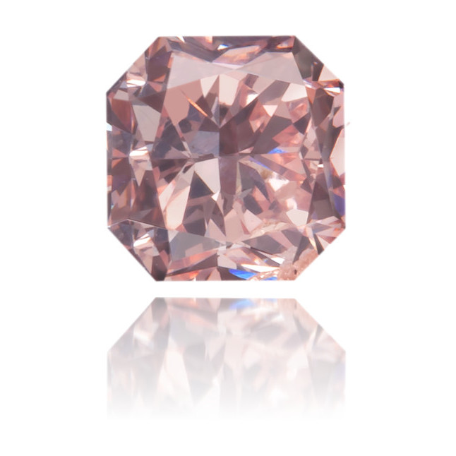 Natural Pink Diamond Square 0.33 ct Polished