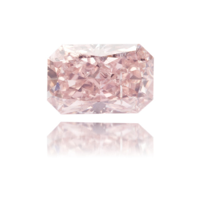 Natural Pink Diamond Rectangle 0.71 ct Polished