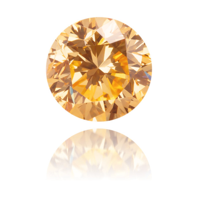 Natural Orange Diamond Round 0.46 ct Polished