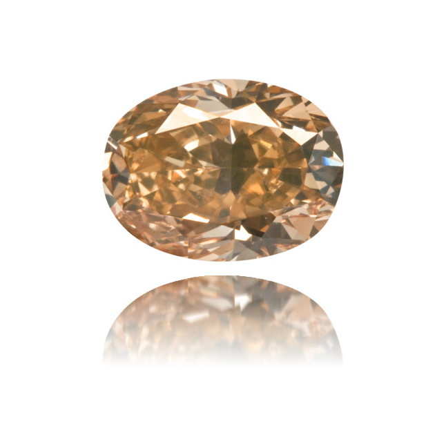 Natural Brown Diamond Oval 2.20 ct Polished