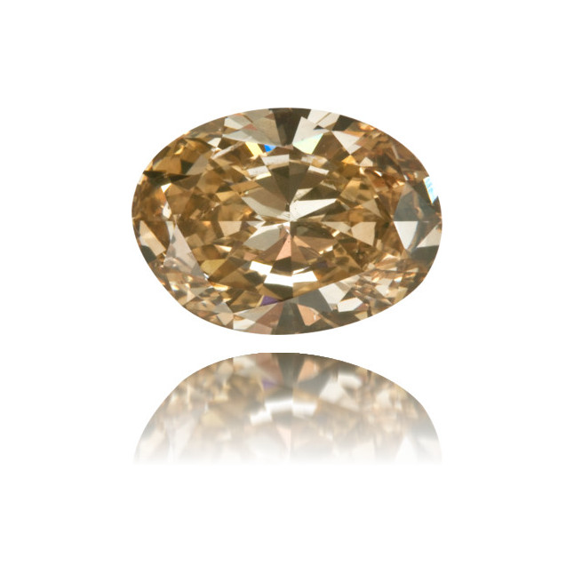Natural Brown Diamond Oval 1.80 ct Polished