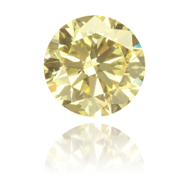 Natural Yellow Diamond Round 1.13 ct Polished